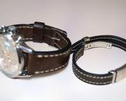 Мужские браслеты из кожи крокодила и Crazy horse