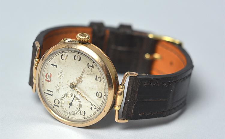 Ремешок из кожи каймана для старинных часов Павел Буре