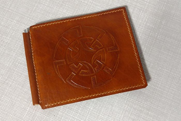 Мужской кошелек с зажимом для денежных купюр