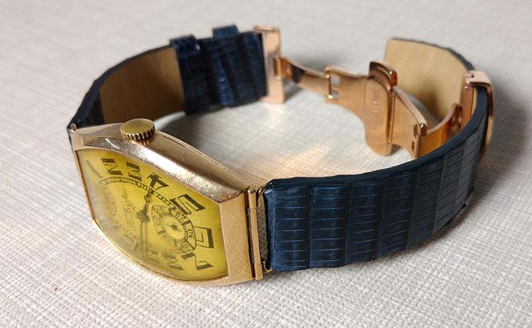 Кожаный ремешок к антикварным часам Павел Буре